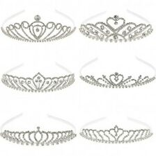 EQUILIBRIUM RHINESTONE CRYSTAL DIAMANTE TIARA LOW HIGH BRIDES PROM BRIDESMAIDS