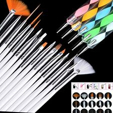 5/15/20 pcs Nail Art Design Dotting Painting Drawing Polish Brush Pen Tool B20E