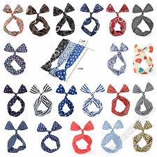 Beautiful Bowknot Wire Headbands Head Scarves Hair Band Head Wraps