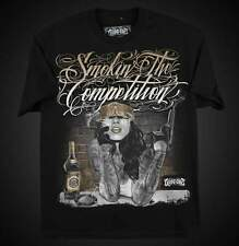 SMOKIN THE COMPETITION MENS SHIRT DYSE ONE CHICANO TATTOO ART