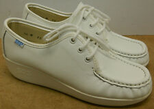 SAS Womens Bounce White Lace Up Leather Shoe  Made in USA New in Box