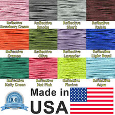 Reflective 7-strand 4mm 550LB Paracord Rope Parachute Cord W/ Reflective Tracers