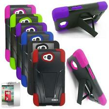Phone Case For Verizon LG Optimus Exceed 2 Rugged Cover Stand Screen Protector