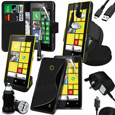 10 in 1 Bundle Kit Accessory Case Car Holder Charger For Nokia Lumia 520