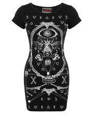 Jawbreaker Vitriol Mini Dress Black Goth Occult Witchcraft Tattoo Slash Back