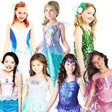 Mermaid Princess Girls Fancy Dress Fairy Tale Book Week Childrens Kids Costumes