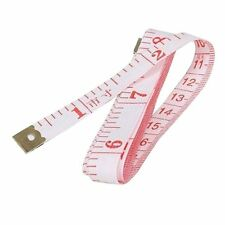 "1.5M 60"" Soft Plastic Ruler Tailor Cloth Body Measure Measuring Flat Tape WHITE"