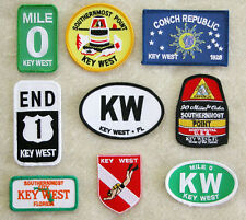 Key West Embroidered Cloth Patch. Choose Your Favorite Style. FREE SHIPPING!
