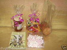 """Clear Cellophane Gift Bags Sweets Cookies Jam hampers wedding favours 12"""" x4.75"""""""