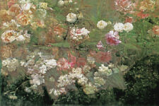 GARDEN IN MAY ROSES FLOWERS IMPRESSIONISM PAINTING BY MARIA OAKEY DEWING REPRO