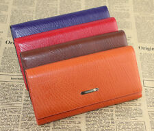 Woman Genuine Leather Wallet Clutch Lady Long Handbag Phone Case Money Card Case