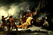 THE DEATH OF GENERAL MONTGOMERY ATTACK QUEBEC PAINTING BY JOHN TRUMBULL REPRO