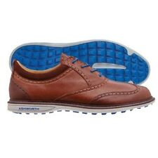 Ashworth Encinitas Wing Tip Spikeless Shoes Brown/Air Force Blue Choose Size