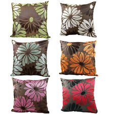 Woven Floral Cushions - Luxury Sofa Bed Scatter Cushion Covers