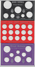 Coin Year Set Display Cards  - Choose your year 1887 to 2000