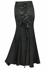 MERMAID JACQUARD FISHTAIL LARGE CORSET GOTHIC VICTORIAN BLACK SKIRT STEAMPUNK