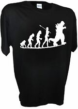 Godzilla Funny Evolves Caveman Chart Japanese Tokyo Monster Sci Fi Movie T Shirt