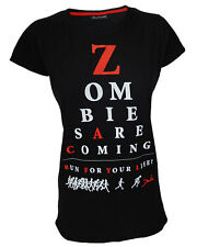 Darkside Clothing Zombies Are Coming Optician Sight Chart Funny Black Top Tshirt