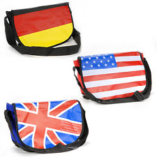 UK DE Germany England Britain Flag Union Jack Messenger Gym Bag Cross Body