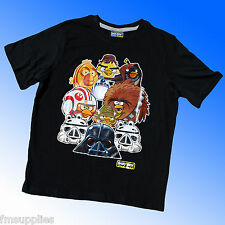 ANGRY BIRDS T-Shirt Short Sleeve Top Star Wars Age 4-11 Years *1st Class Post