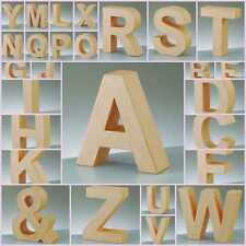 10cm Paper Mache Cardboard Shape Letters Numbers & Signs 3D Decorate Decopatch