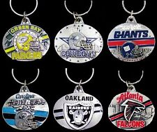 CHOOSE TEAM Key Chain Ring New Official NFL Solid Pewter Keychain Keyring