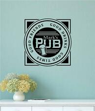 Good Friends Times Personalized Name Pub Vinyl Decal Wall Art Stickers Letters