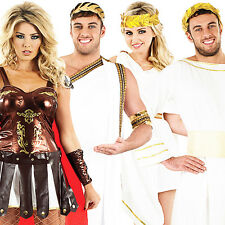 Roman Empire Adults Fancy Dress Grecian Greek Toga Mens Ladies Costumes Outfits