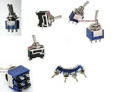 Toggle switch various types. SPDT DPDT 3 Pin 6 Pin On-On On-Off-On Heavy Duty