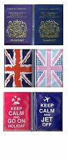 2 Passport Covers Holders Holidays Air Travel Accessories Protector Wallet UK GB