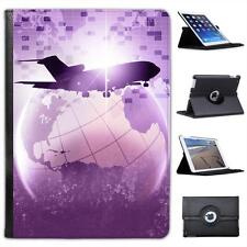 Flying Around The World On Plane Folio Wallet Leather Case For iPad Air