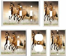 HORSES RUNNING FREE IMAGE # 25 HOME DECOR  LIGHT SWITCH COVER PLATE