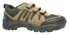 Mercury Mx2 Polar Men's Khaki And Yellow Velcro Walking Trainers New