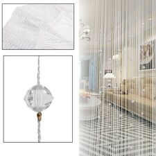 Romatic String Curtain With Beads Decor Tassels Door Window Panel Room Divider