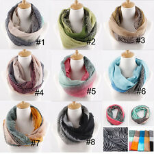 Womens Lady Voile Autumn and Winter Scarf Neck Wrap Shawl Scarves Neckerchief