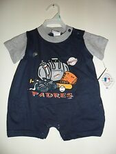 San Diego Padres Baby Creeper Infant Romper in Team Colors 3-9 Months MLB