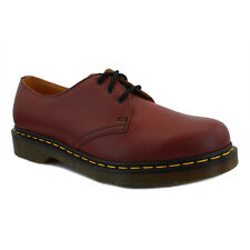 Dr Martens 1461 Unisex Leather Shoes Cherry Red New Shoes All Sizes