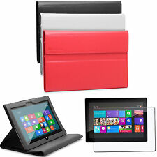 Leather Case Cover Stand with Screen Protector for Microsoft Surface Windows RT