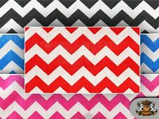 "Polycotton Printed Small Chevron Fabric / 60"" Wide / Sold by the yard"
