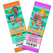 Bubble Guppies Invitations Birthday Party Invites Custom Personalized Boy Girl