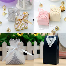 100pcs Luxury Wedding Anniversary Party Cake Favours Favors Ribbon Gift Boxes