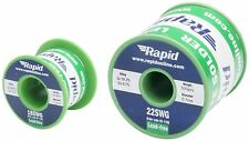 Rapid Lead free Solder Wire Tin/Copper Flux Cored 18SWG 1.2mm 22SWG 0.7mm