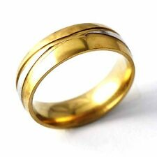 Unisex yellow Gold Filled Womens Mens Band Ring SZ 7-11  A2095- A2099