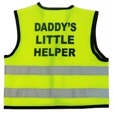 "Hi Visibility Baby Vest Printed ""DADDY'S LITTLE HELPER"" 0-24 Months in 3 Sizes"
