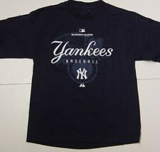 NEW Youth Boys Kids MAJESTIC New York YANKEES NY Baseball MLB Authentic Shirt