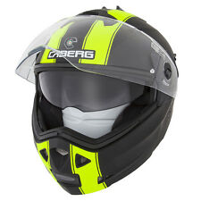 CABERG DUKE LEGEND MATT BLACK/FLUO FLIP FRONT MOTORCYCLE HELMET