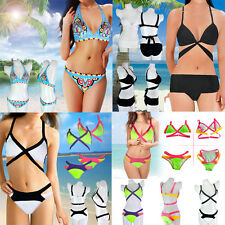 Women's Bandage Bikini Set Push-up Padded Bra Swimsuit Bathing Beach Swimwear
