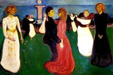 THE DANCE OF LIFE MOONLIGHT DANCING COUPLES 1899 PAINTING BY EDVARD MUNCH REPRO