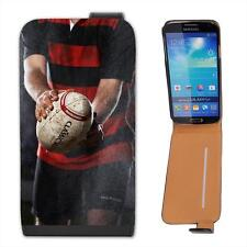Rain Wind or Sun We Play Rugby No Matter What Leather Flip Case for Samsung S4