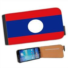 Lao People's Democratic Republic Flag Leather Flip Case for Samsung S4